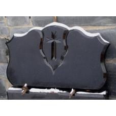 надгробный памятник из гранита на двоих с крестом №62