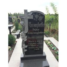 гранитный памятник крест с розами №130