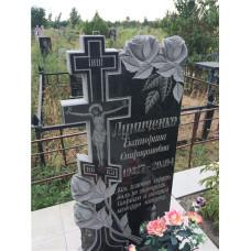 гранитный памятник крест с розами №131