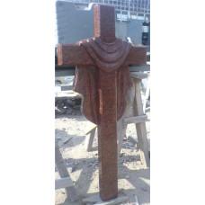 крест из красного гранита №154