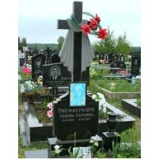 гранитный памятник крест с полотенцем №158