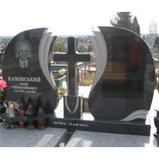 памятник на двоих резной с крестом №228