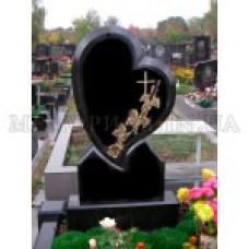 памятник из гранита в виде сердца №258