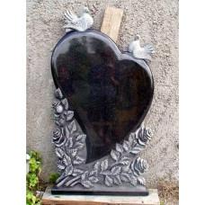 памятник из гранита в виде сердца №263