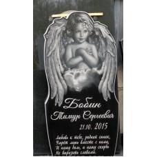 Памятник из гранита детский в форме ангела